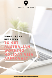 Australian working holiday visa application process
