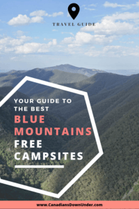 Blue Mountains camping Pinterest pin