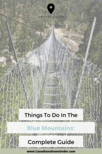 guide to planning a trip to the blue mountains